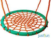 Just Fun huśtawka BOCIANIE GNIAZDO LUX 100 cm - zielono-pomarańczowe 2PR05-06B2.