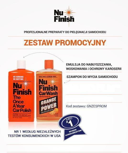 Nu Finish Zestaw promocyjny wosk + szampon GNZESPROM