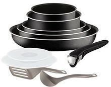 Tefal Ingenio 5 Essential l2009802komplet patelni i garnków, 10 części, czarne, do wszystkich kuchenek oprócz indukcyjnych L2009802