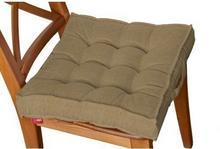 Dekoria Siedzisko na krzesło Kuba na krzesło, kakao, 50x50x10cm, Etna