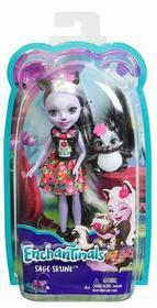 Mattel ENCHANTIMALS Lalka + Zwierzątko Sage Skunk
