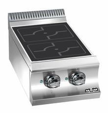 MBM Kuchnia indukcyjna stołowa z 2 stanowiskami grzewczymi | 400x730x(H)250 mm | 2x 3,5 kW E477I