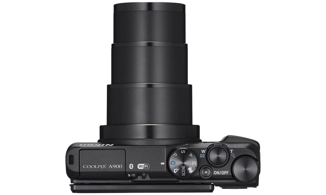 Aparat kompaktowy Nikon Coolpix A900 pokrętła sterowania