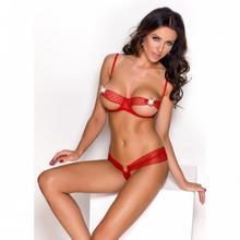 Anais Afrodita komplet czerwony XL