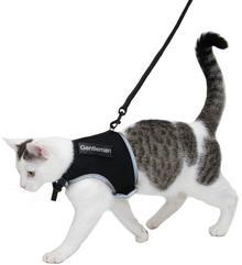Trixie Szelki dla kota XCat z naklejkami i smyczą, czarne - Czarny