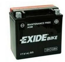 Exide Bike Maintenance Free AGM 12V 12 Ah 200A YTX14L-BS