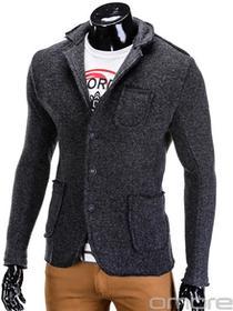 Ombre Clothing SWETER E68 - CZARNY