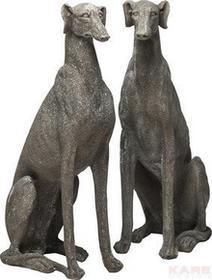 Kare Design Greyhound Figurka Dekoracyjna Szara - 37302