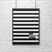 DekoSign Plakat dekoracyjny 50x70 cm w ramie BE GOOD paski by DecoSign DS-PL13-1