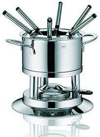Kela Cailin 10968 10-częściowy zestaw naczyń do fondue, dla 6 osób, wykonane ze stali nierdzewnej, pojemność 2,0 l 10968