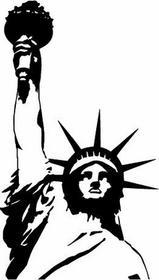 Szabloneria Naklejka sylwetka 55 - Statua Wolności