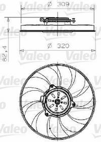 VALEO Wentylator, chłodzenie silnika 696001