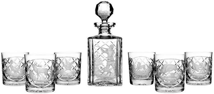 Crystal Julia Karafka 6 sztuk szklanki grawer myśliwski do whisky 2587)
