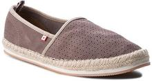 Big Star Espadryle W174243 Brown skóra naturalna/zamsz
