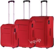 Puccini zestaw walizek Camerino - czerwony