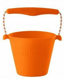 Scrunch Bucket zabawki do piaskownicy silikonowe pomarańczowe FW38053