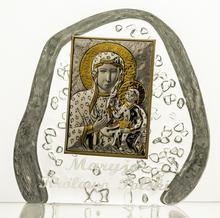 Crystal Julia Skałka przycisk kryształowy Matka Boska Jasnogórska 3553)