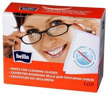 Bella TORUŃSKIE ZAKŁ.MAT.OPAT. Chusteczki do czyszczenia okularów 10 szt.