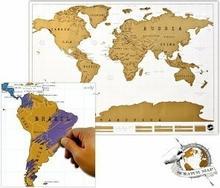 Mapa świata do zdrapywania