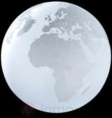Sompex Lampa stołowa EARTH w kształcie globusa