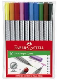 Faber Castell CIENKOPISY GRIP 10 KOL W ETUI wszystko dla domu i biura! 151610 FC