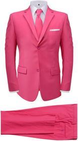 vidaXL 2-częściowy garnitur męski z krawatem różowy rozmiar 56