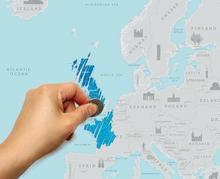Mapka zdrapka - Europa