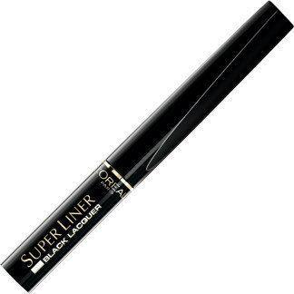 Loreal Super Liner Black Lacquer eyeliner do oczu Winylowa Czerń 14g