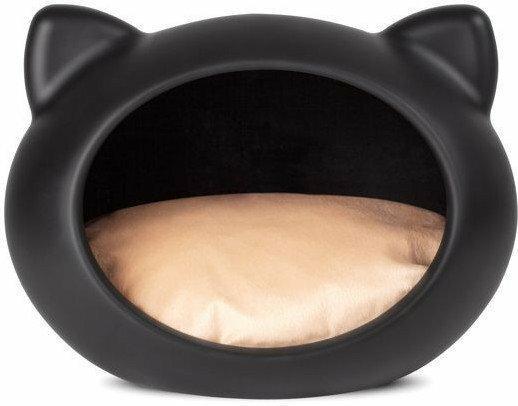 Guisapet GUISA Legowisko dla kota S czarne z beżową poduszką