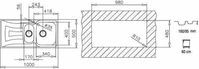 Teka UNIVERSO 1 1/2C 1E MTX 10120060