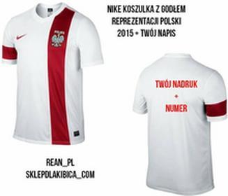 NikeT-shirt STRIKER POLSKA Z ORŁEM I TWOIM WŁASNYM NADRUKIEM