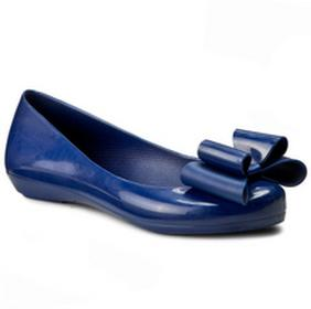 Zaxy Baleriny Pop Bow Fem 81998 Blue 01380 V285025 tworzywo/-wysokogatunkowe tworzywo