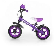 Milly Mally Rowerek biegowy z hamulcem Dragon fioletowy 981789