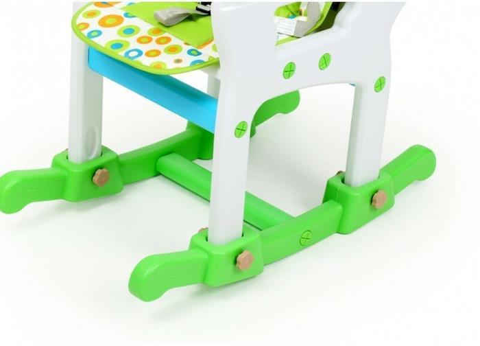 PWTOYS Krzesełko do karmienia 4w1 zielono/niebieskie 239