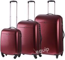 Puccini zestaw walizek PC 005 - wiśniowy
