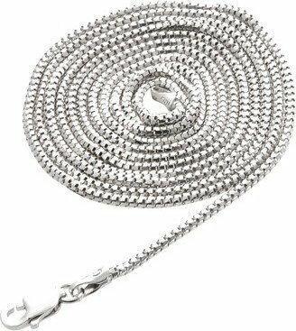 AnKa Biżuteria Łańcuszek srebrny rodowany 80 cm i 60 cm -lańcuszek włoski-Etrusk