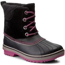 Sorel Śniegowce Youth Slimpack II Lace NY2416-011 Black/Kettle