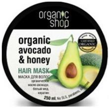 Organic Shop Organiczna Maska Do Włosów Awokado i Miód 250ml