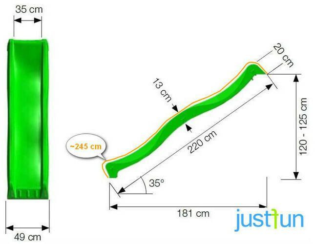 Just Fun zjeżdżalnia do podestu 1,25 m - różowy 1PR01-01A1.08