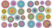 Consalnet Naklejka Kolorowe Kwiatki SNC14WD