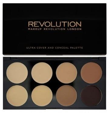 Makeup Revolution Ultra Cover&Concele Paleta korektorów Medium-Dark 5029066026354