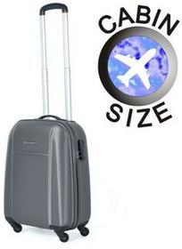 Puccini Mała walizka ABS02 C szara szary ABS02 C 8 szary