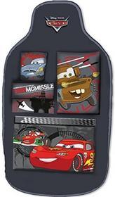 Disney Cars 25903 organizer na tył fotela z, 5 kieszeniami, z motywem samochodu Lightning McQueen i jego przyjaciół z bajki Auta, czarny