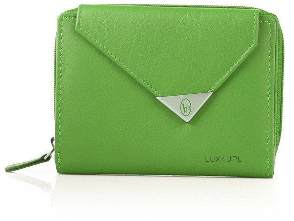 916cc1ca5e572 Bruno Banani portfel damski skóra Triangle Limited Edition - zielony  W320 138