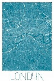 Londyn - Niebieska mapa