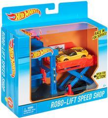 Mattel Hot Wheels - Rozkładane Zestawy Warsztat Z Podnośnikiem Dwl02 Dwk99