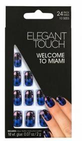 Elegant Touch tipsy paznokcie zdobione z klejem Welcome to Miami, 24szt.