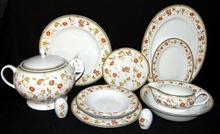 Porcelana Śląska Serwis obiadowy dla 12 osób (Bogudzice) - Jesień 156