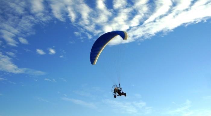Lot motoparalotnią - Zielona Góra