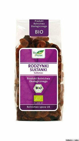 Bio Planet Rodzynki sułtanki, produkt rolnictwa ekologicznego 200g 5907814661708